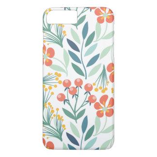 Capa iPhone 8 Plus/7 Plus Iphone7 floral alaranjado e verde mais
