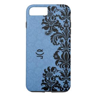 Capa iPhone 8 Plus/7 Plus Laço preto no fundo azul