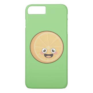 Capa iPhone 8 Plus/7 Plus Laranja de Kawaii