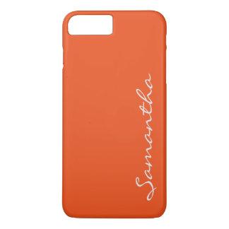 Capa iPhone 8 Plus/7 Plus laranja na moda chique moderna simples elegante do