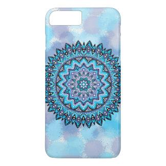 Capa iPhone 8 Plus/7 Plus Mandala violeta azul