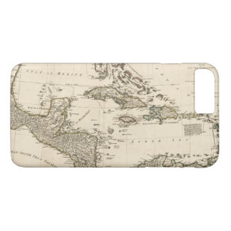 Capa iPhone 8 Plus/7 Plus Mapa das Índias Ocidentais por Samuel Dunn (1774)