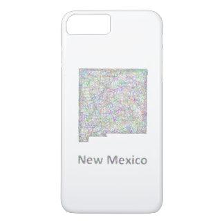 Capa iPhone 8 Plus/7 Plus Mapa de New mexico