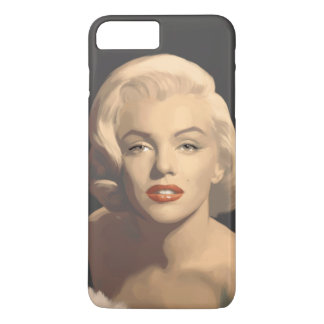 Capa iPhone 8 Plus/7 Plus Marilyn cinzenta gráfica