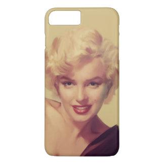 Capa iPhone 8 Plus/7 Plus Marilyn no preto