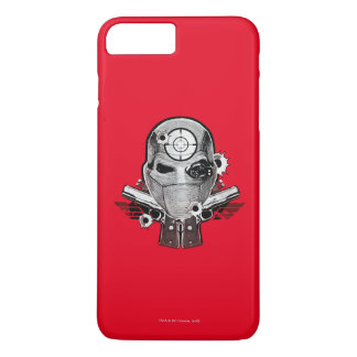 Capa iPhone 8 Plus/7 Plus Máscara do pelotão   Deadshot do suicídio & arte
