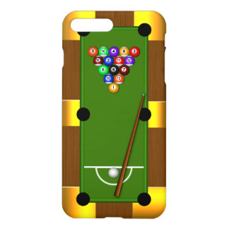 Capa iPhone 8 Plus/ 7 Plus Mesa de bilhar oito 8 bilhar masculinos da bola