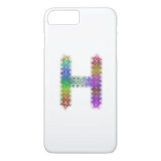 Capa iPhone 8 Plus/7 Plus Monograma da letra H do Fractal