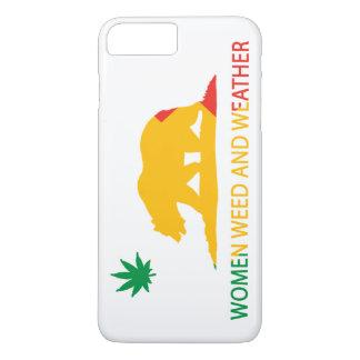 Capa iPhone 8 Plus/7 Plus Mulheres erva daninha de Califórnia e bandeira do
