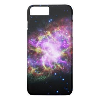 Capa iPhone 8 Plus/7 Plus Nebulosa de caranguejo cor-de-rosa