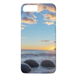 Capa iPhone 8 Plus/7 Plus Nova Zelândia, ilha sul, pedregulhos de Moeraki