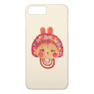 Capa iPhone 8 Plus/7 Plus O coelho da coroa da flor