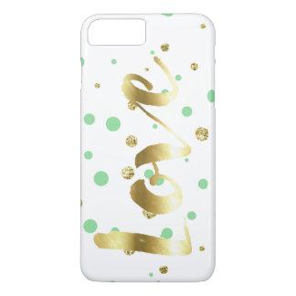 Capa iPhone 8 Plus/7 Plus O confete do brilho do falso da hortelã do ouro