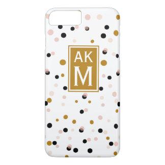 Capa iPhone 8 Plus/7 Plus O confete moderno pontilha o caso positivo do