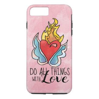 Capa iPhone 8 Plus/7 Plus O coração de Solma está no fogo