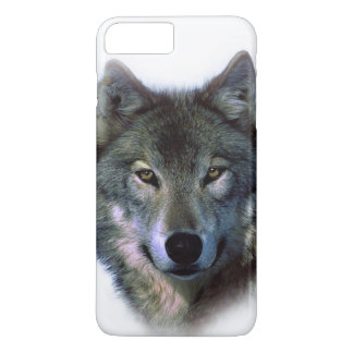 Capa iPhone 8 Plus/7 Plus O lobo cinzento Eyes o caso positivo do iPhone 7