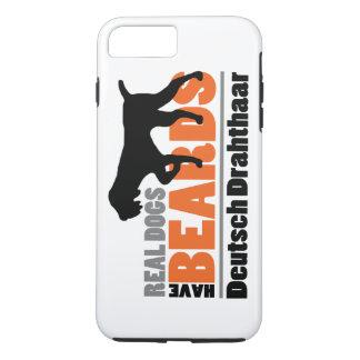 Capa iPhone 8 Plus/7 Plus Os cães reais têm barbas - Deutsch Drahthaar
