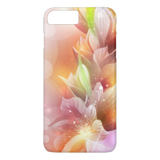 Capa iPhone 8 Plus/7 Plus Ouro abstrato Sparkly floral