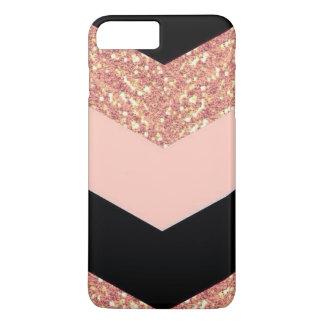 Capa iPhone 8 Plus/7 Plus Ouro cor-de-rosa & preto