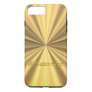 Capa iPhone 8 Plus/7 Plus Ouro elegante chique personalizado
