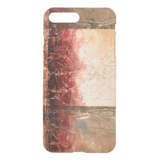 Capa iPhone 8 Plus/7 Plus Paisagem vermelha abstrata
