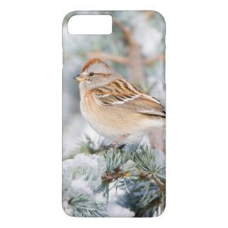 Capa iPhone 8 Plus/7 Plus Pardal de árvore americano no inverno