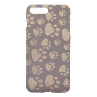 Capa iPhone 8 Plus/7 Plus patas de urso em texturas de madeira