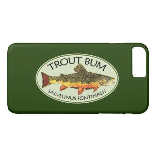 Capa iPhone 8 Plus/7 Plus Pesca com mosca cómico do vagabundo da truta de