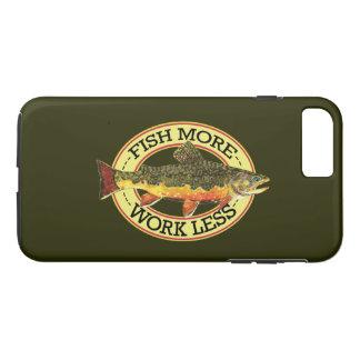 Capa iPhone 8 Plus/7 Plus Pesca cómico da truta