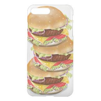 Capa iPhone 8 Plus/7 Plus Pilha de Hamburger ou de cheeseburgers