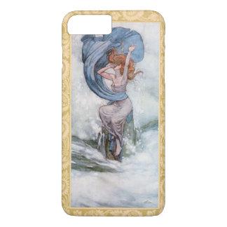 Capa iPhone 8 Plus/7 Plus Pintura azul da deusa do oceano