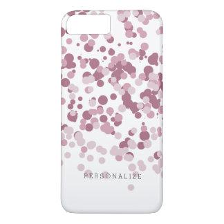 Capa iPhone 8 Plus/7 Plus Pontos cor-de-rosa dos confetes