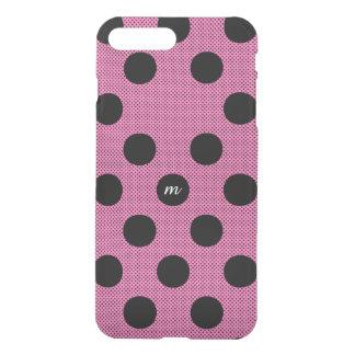 Capa iPhone 8 Plus/7 Plus Pontos de intervalo mínimo cor-de-rosa