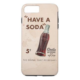 Capa iPhone 8 Plus/7 Plus Poster da soda do vintage