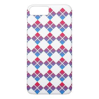 Capa iPhone 8 Plus/7 Plus Quadrado azul vermelho do diamante 4