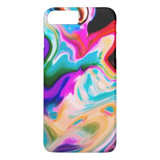 Capa iPhone 8 Plus/7 Plus Redemoinhos de fluxo coloridos do mármore
