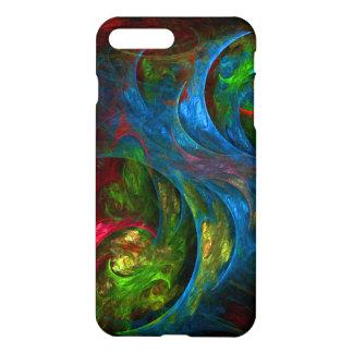 Capa iPhone 8 Plus/ 7 Plus Resíduo metálico azul da arte abstracta da génese
