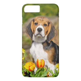 Capa iPhone 8 Plus/7 Plus Retrato bonito do filhote de cachorro Tricolor do