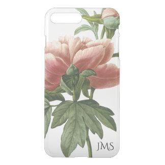 Capa iPhone 8 Plus/7 Plus Rosa cor-de-rosa botânico do vintage floral