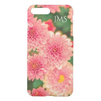 Capa iPhone 8 Plus/7 Plus Rosa e verde florais