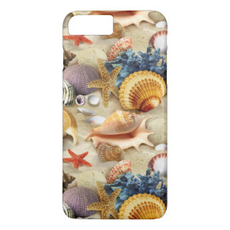 Capa iPhone 8 Plus/7 Plus Seashells da praia