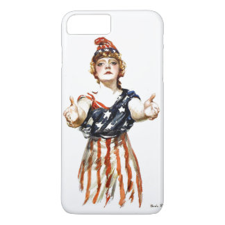 "Capa iPhone 8 Plus/7 Plus ""Seja"" senhora patriótica Liberdade de WWI"