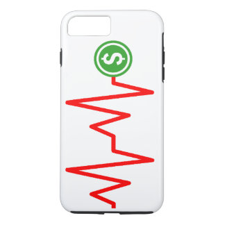 Capa iPhone 8 Plus/7 Plus Sinal de dólar conservado em estoque da carta