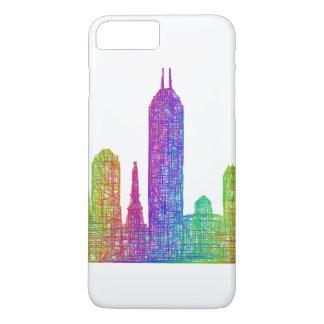 Capa iPhone 8 Plus/7 Plus Skyline de Indianapolis