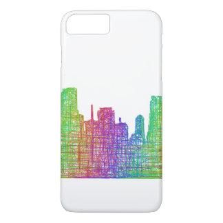 Capa iPhone 8 Plus/7 Plus Skyline de Miami