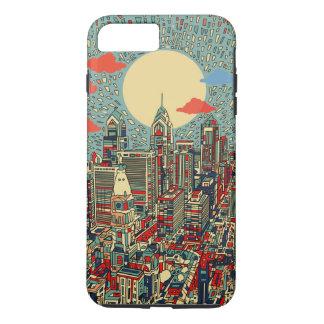Capa iPhone 8 Plus/7 Plus skyline de Philadelphfia