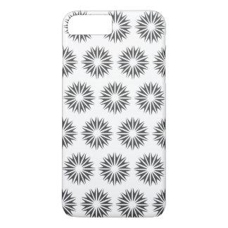 Capa iPhone 8 Plus/7 Plus Sunbursts modernos do carvão vegetal