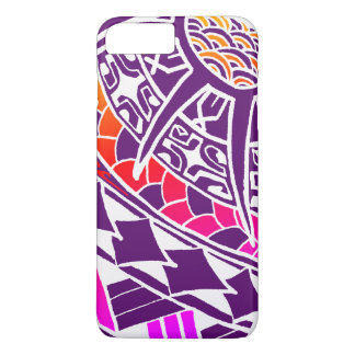 Capa iPhone 8 Plus/7 Plus Tatuagem polinésio branco de LineA