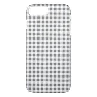 Capa iPhone 8 Plus/7 Plus Teste padrão branco do guingão do carvão vegetal