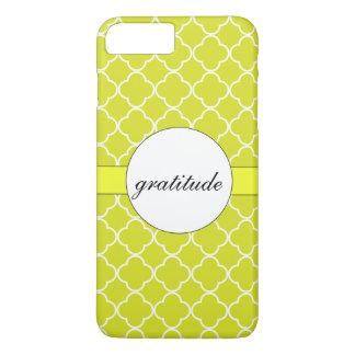 Capa iPhone 8 Plus/7 Plus Teste padrão Chartreuse feito sob encomenda de